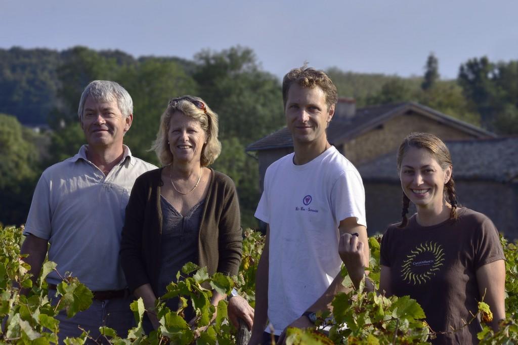 Bertrand, Anke, Xavier et Kerrie